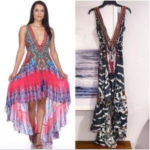 La Moda - True Colors: High-Low Dress Sz: L/XL